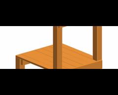 Platform i lerk til 50 cm rutsjebane