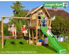 Jungle Crazy Playhouse CXL m/sklie og Swing Module Xtra