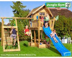 Jungle Crazy Playhouse CXL m/sklie og Climb Module Xtra