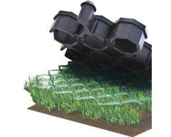 Gressarmeringsmatter-Ringmatter-Fallunderlag til 3 m (sort)