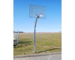 Basketballstativ med galvanisert metallplate