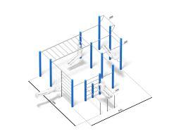 4FCIRCLE® Calisthenics-Stasjon Allround