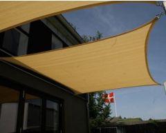 Solseil firkantede 3,6 x 3,6 m beige