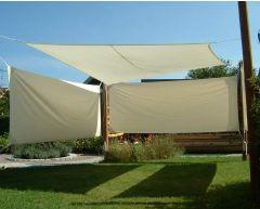 Solseil firkantede 3,6 x 3,6 m hvit