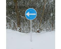 Trafikkskilt - Påbudt kjøreretning (venstre)