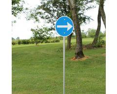 Trafikkskilt - Påbudt kjøreretning (høyre)