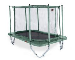 Trampoline PRO-Line 3,8x2,6m med nett og stige